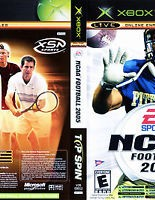 NCAA Football 2005 / Top Spin Dual pack / Xbox